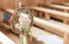 Bankstrauss für kirchliche Hochzeit