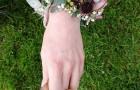 Saisonaler Armschmuck für die Braut