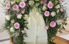 Bouquetkranz mit Schleife