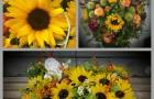 Trauerfloristik mit Sonnenblumen